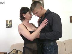 Mature mother getting fucked by her toy boy