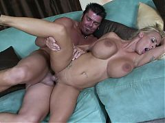 Sexy milf rides a monster cock to a massive mouth cumshot