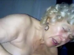 Very old grandma, blowjob, handjob and cum in mouth