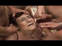 Granny and Mature Cumpilation 3 - More Facials on Old Sluts